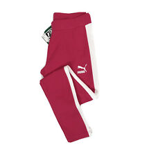Puma Classic Logo T7 Leggings Bright Rose Pink White Workout Women's Pants NEW