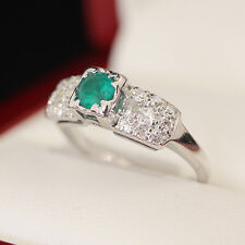 Vintage Emerald and Diamond engagement ring, in 14ct gold.  Beautiful!