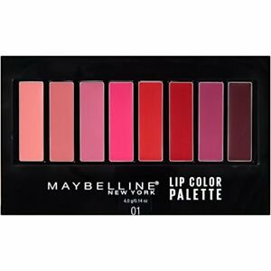 Maybelline New York Lip Color Pallette, 8 Shades, #01 with Brush Included