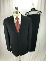 Jhane Barnes Men's Black Wool Suit 38R 32 x 31