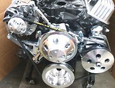SB Chevy SBC Complete LWP Aluminum Pulley Kit W/ Alternator, Power Steering Pump