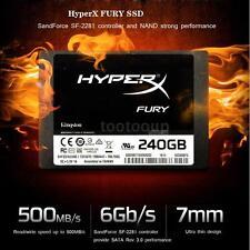 """Kingston HyperX FURY 120GB 2.5"""" SATA III Internal SSD Solid State Drive T8C4"""