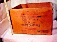 Vintage Western Blasting Caps Box No.6  Wood Railroad, Mining, Military Caps Box