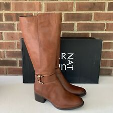 Naturalizer Women's Kelso Knee High Tall Boots Brown Leather US 9.5 M WC New