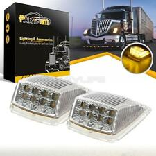 2x 17 LED Clear/Yellow Reflector Roof Cab Marker Lights for Peterbilt/Kenworth