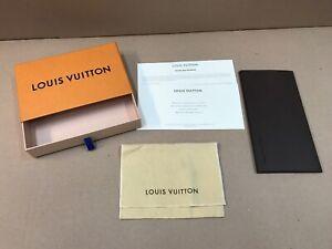 Genuine Louis Vuitton Purse / Wallet Dust Bag Box Packaging
