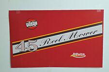 Rover-Scott Bonnar Model 45 Vintage Mower Red & Yellow Decals