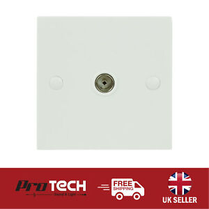 TV Aerial Socket Coaxial Wall Plate TV FM Single Gang Coax Faceplate TV Point