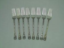Watson WINDSOR ROSE Sterling Silver Dinner Forks - Set of 8 - No Monogram