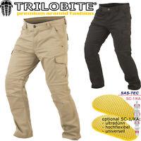 TRILOBITE DUAL PANTS Cargo Hose mit Aramid elastisch Motorradhose Protektoren