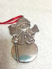 Reed and Barton Silverplate Snowman