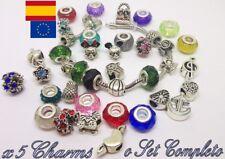 x5 Charms o Set entero abalorios charm plata tibetana Pulsera Europea Pandora 1