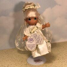 "Precious Moments Figurine Wedding New Tags Nwt Statue 7"" Bride Veil Blonde Pearl"