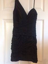 La Femme One Shoulder Little Black Dress Prom Homecoming - Size 2