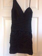 La Femme One Shoulder Little Black Dress Formal Prom Homecoming - Size 2