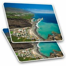 2 x Rectangle Stickers 10 cm - La Palma Canary Islands Beach #16548