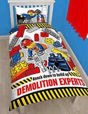 Single Bed Duvet Cover Set Lego City Demolition Polycotton Blocks Builders Kids