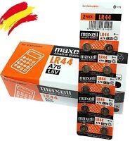 10x PILAS MAXELL BOTON LR44 1,5V / A76 / AG13    0% Hg.
