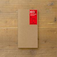 Traveler's Notebook Japan Regular Size Refill 003 Blank 14247006 Midori