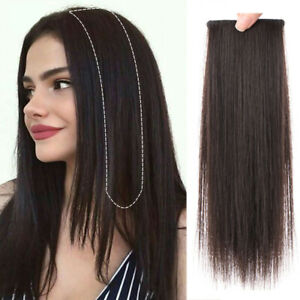 100% Human Hair Straight Clip in Piece Filler Seamless Add-On Bangs FringeTopper