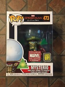 Marvel Funko Pop MYSTERIO LIGHT UP #473 Spider-Man Far From Home Collector Corps