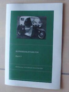 Betriebsanleitung Simson DUO /4 Krankenfahrzeug Schwalbe KR 51/1