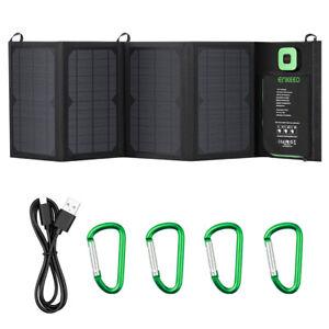 ENKEEO 28W Solar Faltbares Ladegerät Tasche 10 in 1 Anschluss mit MPPT