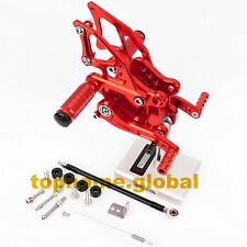 For Kawasaki Ninja 300R 2013-2016 Rearset Footpegs Red Rear Brake Set Adjusting