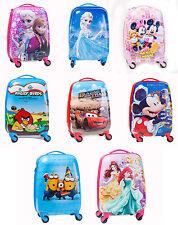 Disney Kids Hard Shell Travel Suitcase Cabin Holiday Trolley 4 Wheel Luggage Bag