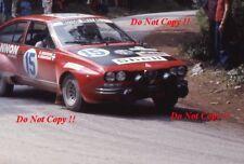 GIORGOS moschous ALFA ROMEO ALFETTA GT ACROPOLIS RALLY 1976 fotografia 1