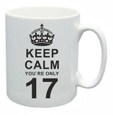 17th Novelty Birthday Gift Present Tea Mug Keep Calm Your Only 17 Coffee Cup