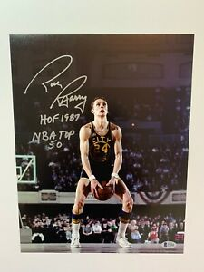 Rick Barry autographed 11x14 photo NBA Golden State Warriors Beckett Witnessed