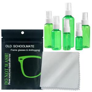 10pcs Cleaning Cloth Microfiber Soft, Eye Glasses Camera Screen w/Spray bottle