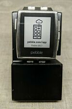 Pebble Steel Smart Watch 4015 w/Stainless Band & Stand