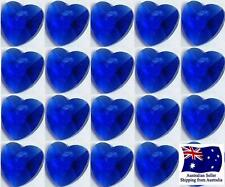 Glass Heart Charm Bead - 10mm 20pcs - Sapphire