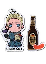 Hetalia Axis Powers Germany and Beer 2 Pin Set Licensed Anime NEW