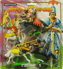 BRITAINS KNIGHTS OF THE SWORD 3 FIGURAS CABALLEROS SARRACENOS PLASTICO
