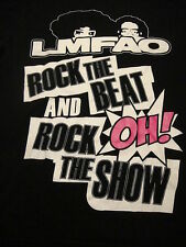 "LMFAO ""Rock the Beat and Rock the Show"" Music Concert Tour T Shirt Large Black"