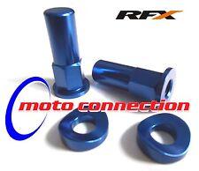 RFX Azul Anodizado Rim Tuercas De Bloqueo & Arandelas Yamaha WR250F WR426F WR450F WRF