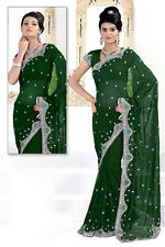Gorgeous Bollywood Wedding Sequins Work Saree Blouse Sarees