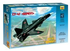 ZVEZDA 7215 RUSSIAN SUPERMANEUVERABLE 5TH GENERATION FIGHTER SU-47 BERKUT 1/72