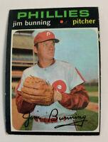 1971 Jim Bunning # 574 Philadelphia Phillies Topps Baseball Card HOF