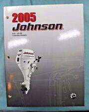 Johnson Outboard Factory OEM Service Manual 2005 P# 5005990 4 stroke 9.9-15 HP.