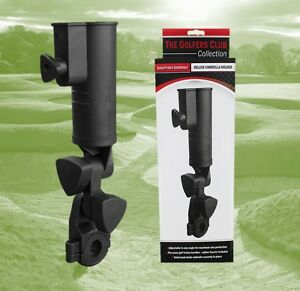 Deluxe Golf Umbrella Holder Universal simple to Fit, Adjustable Angle and Secure