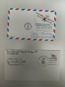 WWII Hero Aviator Autographs On Covers. Great Americans.