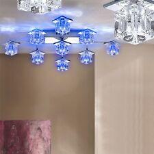 Dekorative LED Glas Lampe eckige Decken Leuchte Fernbedienung Flur Beleuchtung