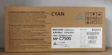 Original Ricoh 842072 toner cian para MP c7500e Nashuatec Rex Rotary gestener OVP