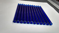Glass Tubing BLUE BOROSILICATE (PYREX) 12 PIECES 150MM LONG 10MM*1.5MM Tube