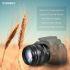 YN100MM F2 Super Telephoto Prime Lens For Canon EOS 1300D 1200D 100D 6D 80D 5D