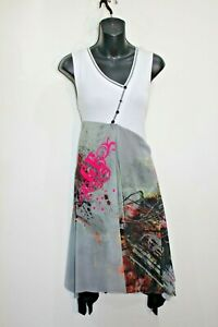 Gabriella Frattini Multi Coloured Patterned Sleeveless Midi Sz 10 Lined